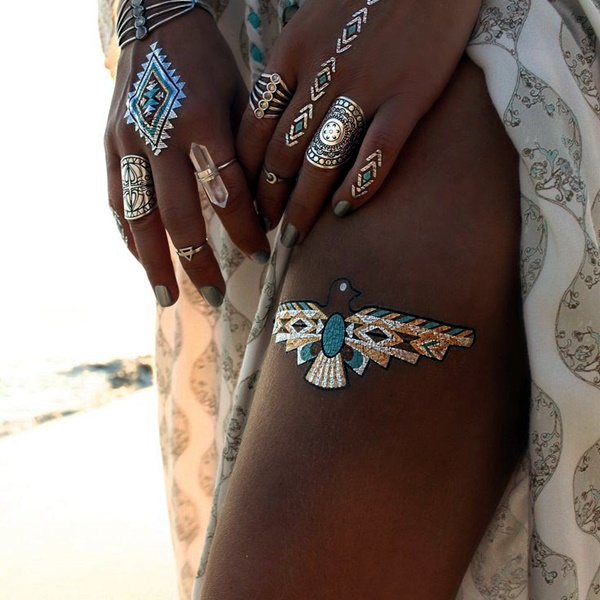 Genius Metallic Tattoos Design