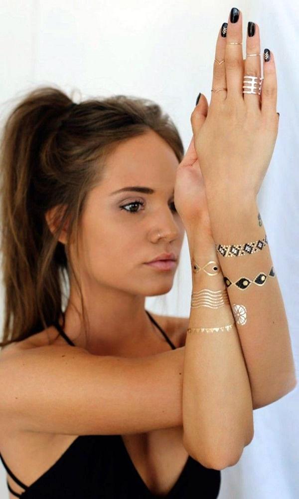 Genius Metallic Tattoos Design 43