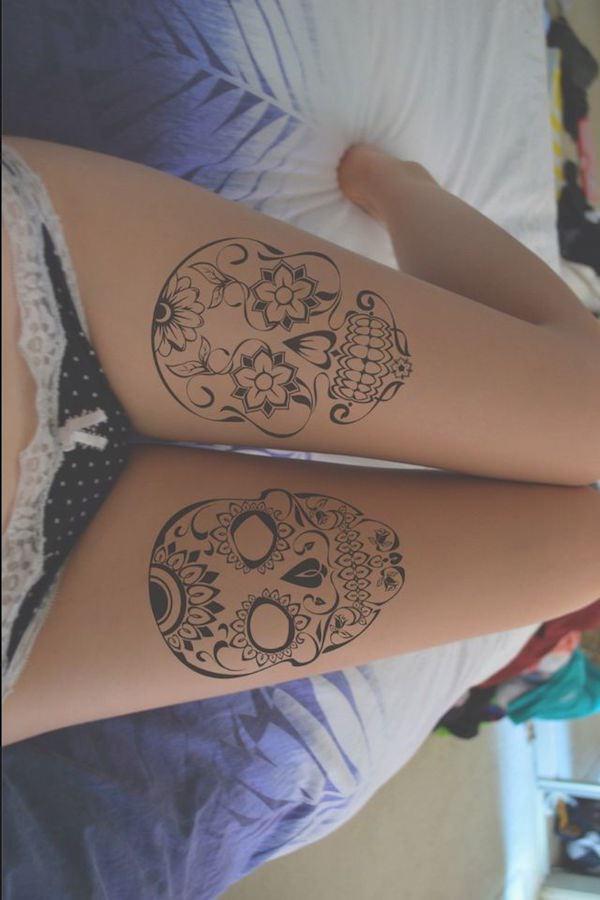 Stimulating Thigh Tattoos 12