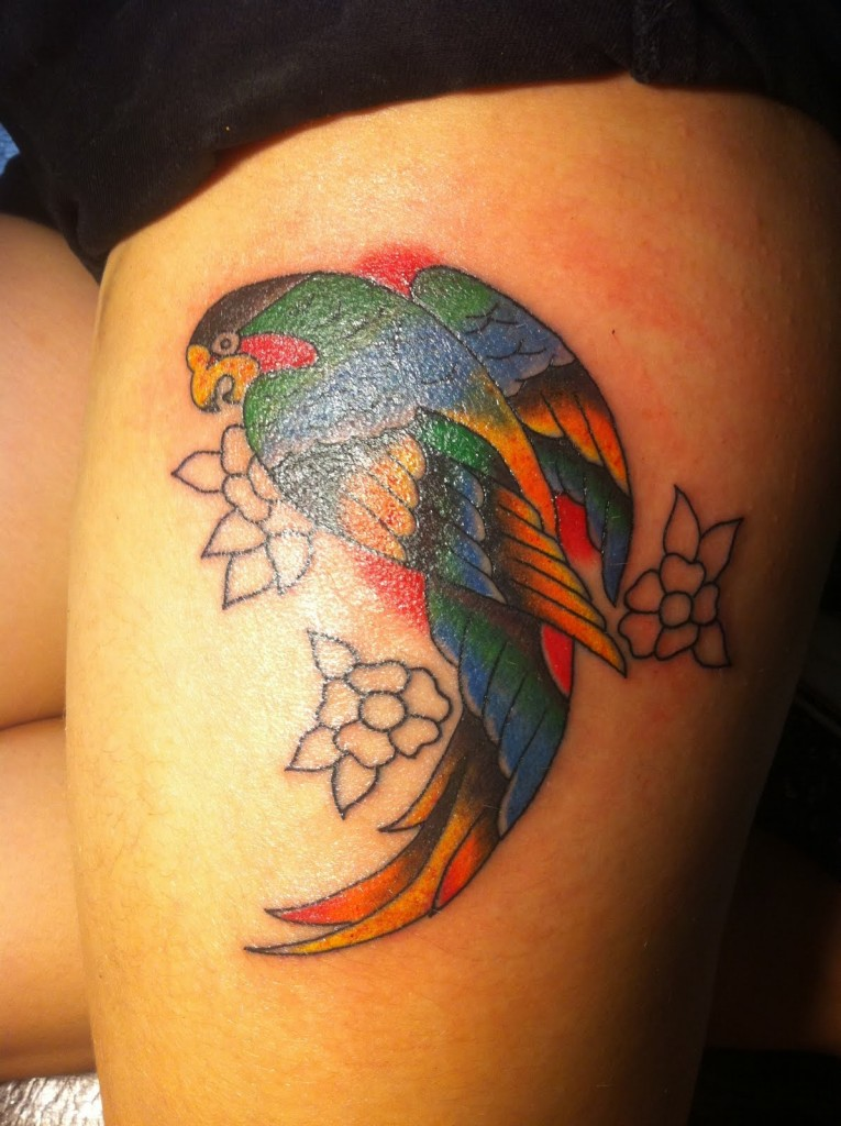 Stimulating Thigh Tattoos 16