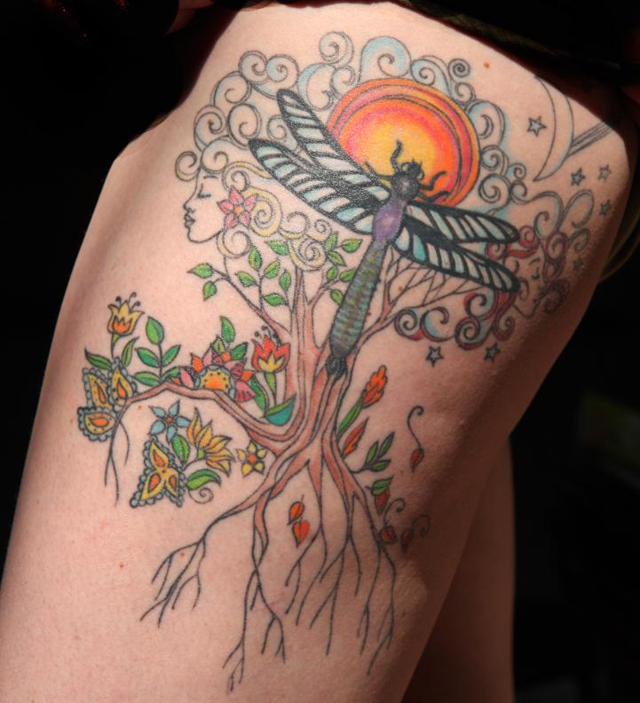 Stimulating Thigh Tattoos 19