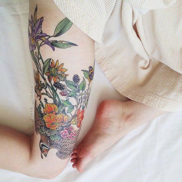 Stimulating Thigh Tattoos 3