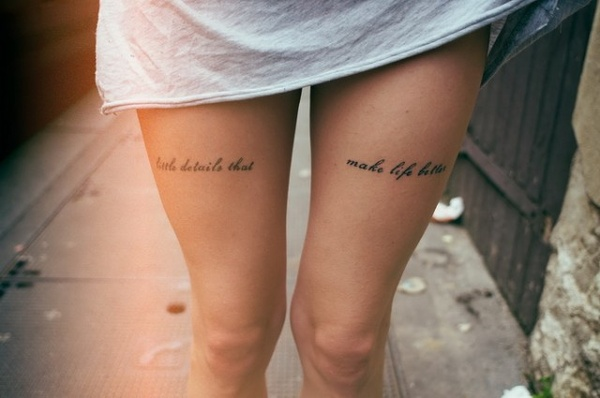 Stimulating Thigh Tattoos 33