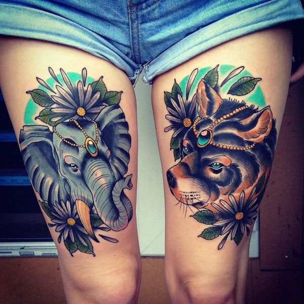 Stimulating Thigh Tattoos 4