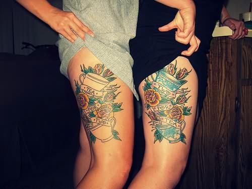 Stimulating Thigh Tattoos 40