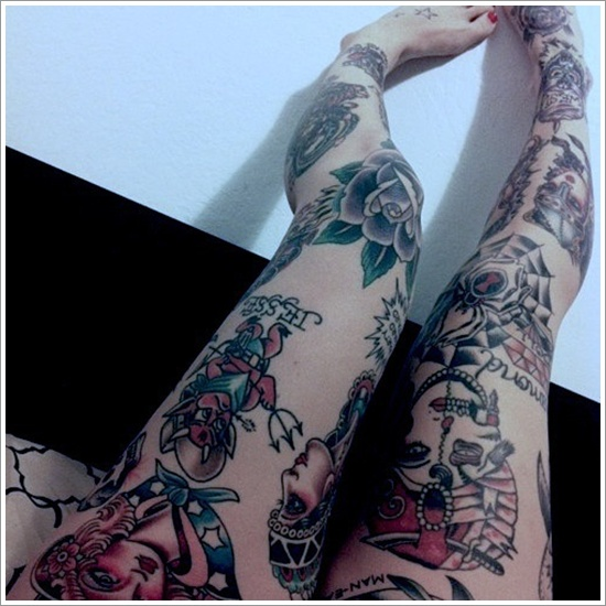 Stimulating Thigh Tattoos 42