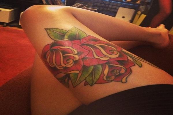 Stimulating Thigh Tattoos 54
