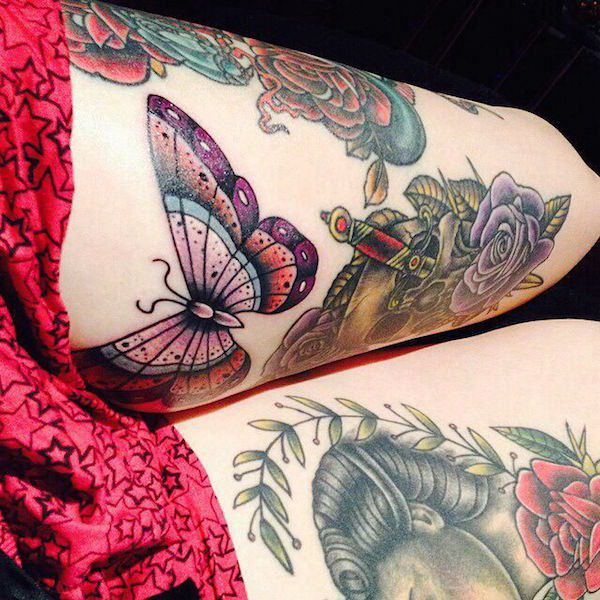 Stimulating Thigh Tattoos