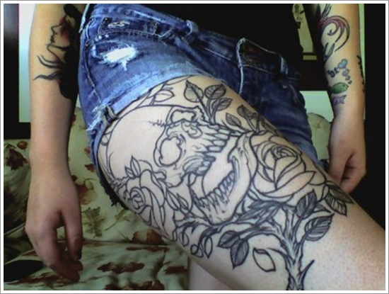 Stimulating Thigh Tattoos 58