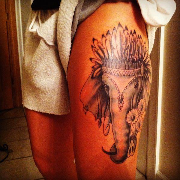 Stimulating Thigh Tattoos 6