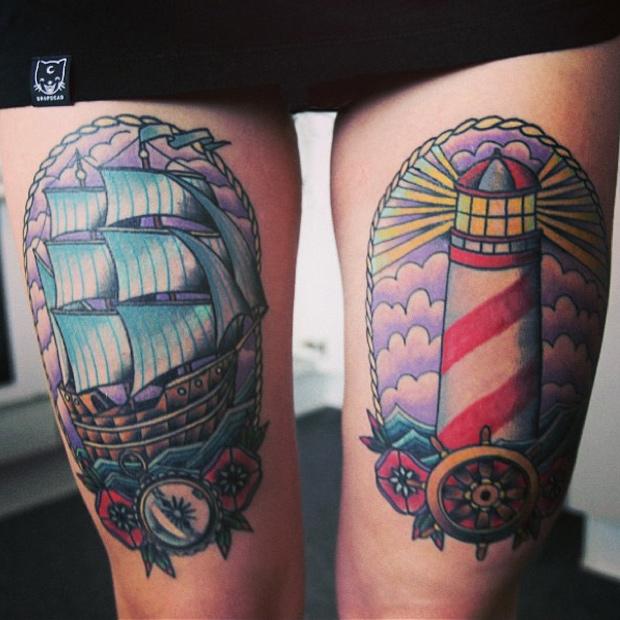 Stimulating Thigh Tattoos 61