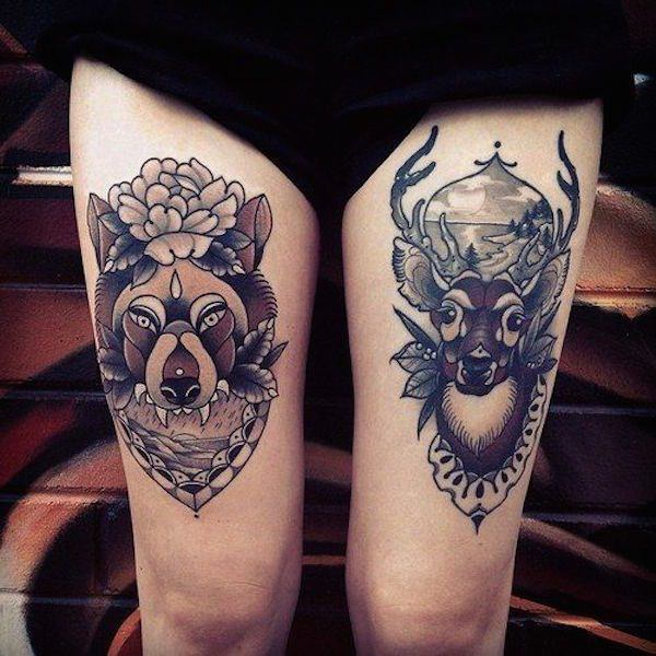 Stimulating Thigh Tattoos 9