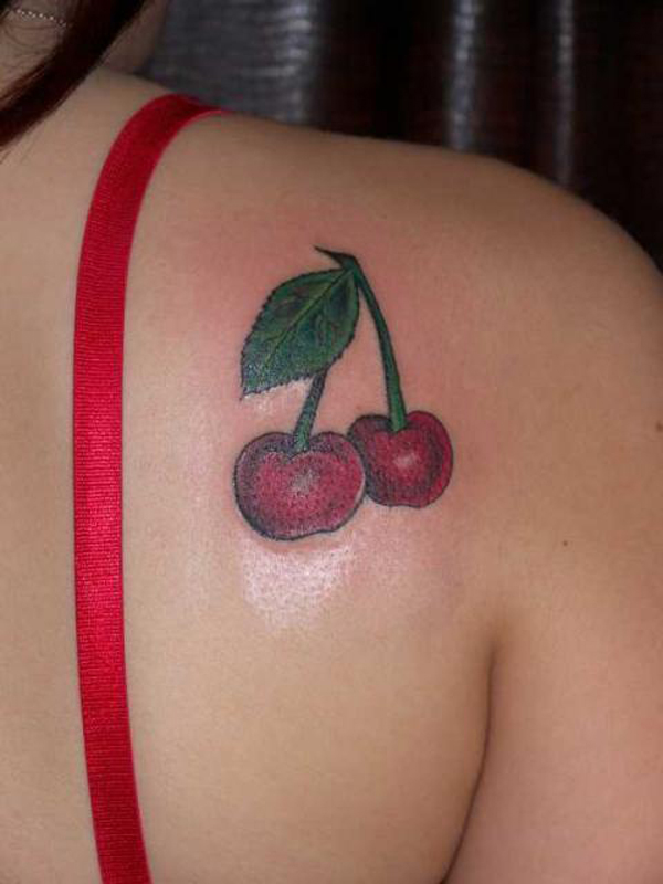 Cherry Tattoo Designs 30