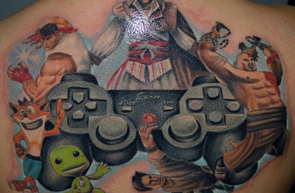 Game Tattoo Designs for Boys and Girls 19
