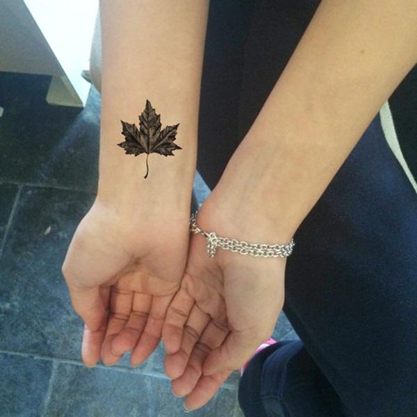 Leaf Tattoo Design Ideas 18