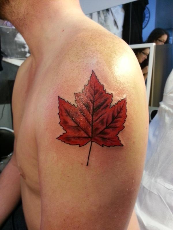 Leaf Tattoo Design Ideas 22