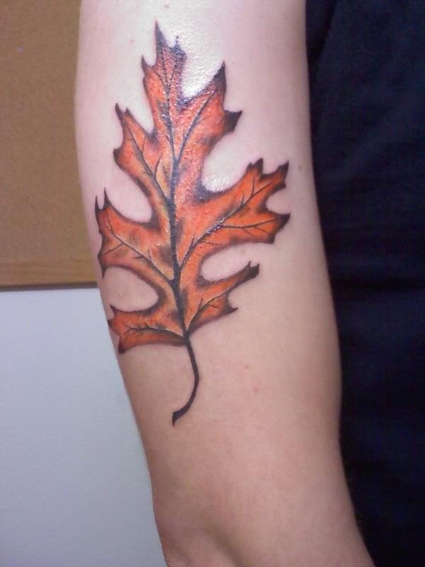 Leaf Tattoo Design Ideas 28