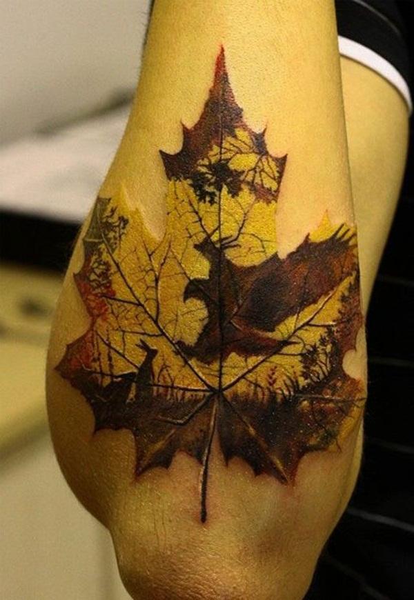 Leaf Tattoo Design Ideas 3