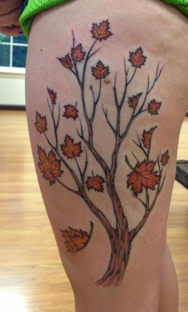 Leaf Tattoo Design Ideas 32