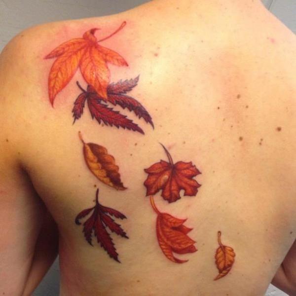 Leaf Tattoo Design Ideas 36