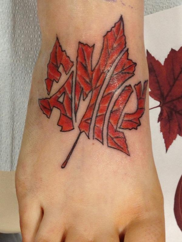 Leaf Tattoo Design Ideas 4