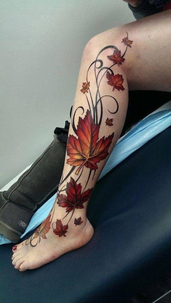 Leaf Tattoo Design Ideas 6