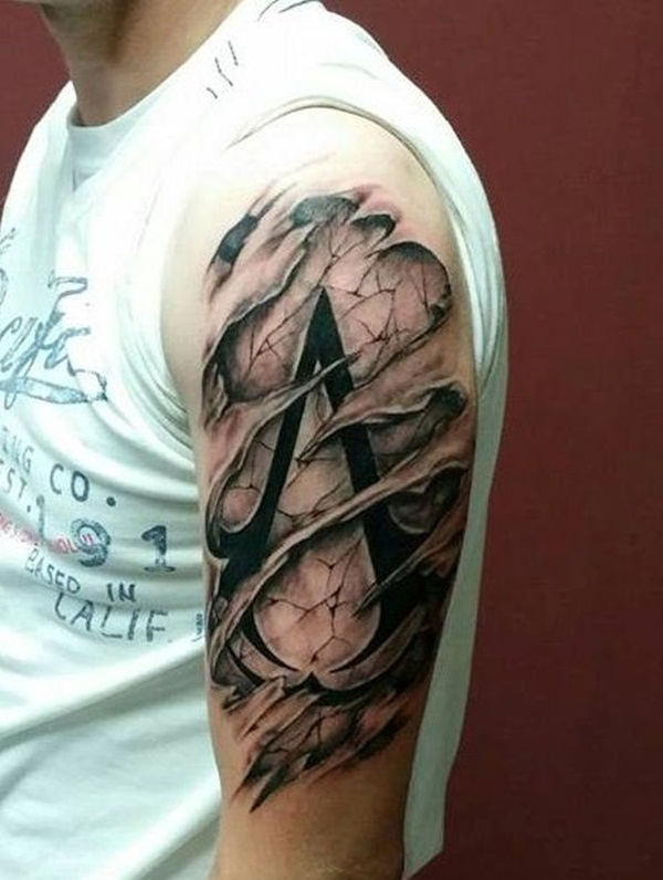 Ripped Skin Tattoo Design and Ideas 12