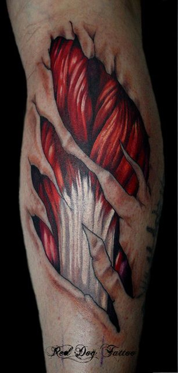 Ripped Skin Tattoo Design and Ideas 15