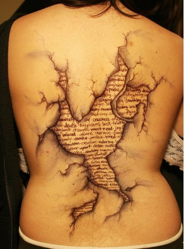Ripped Skin Tattoo Design and Ideas