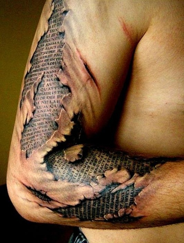 Ripped Skin Tattoo Design and Ideas 4