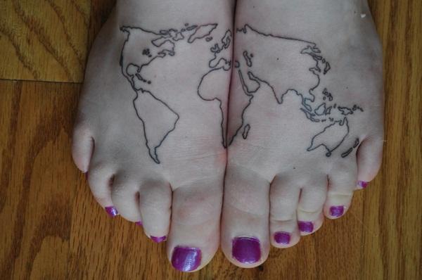 Smart Map Tattoo Design And Ideas 11