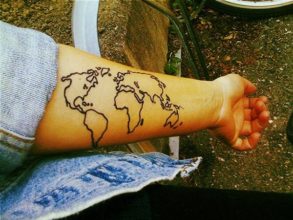 Smart Map Tattoo Design And Ideas 13