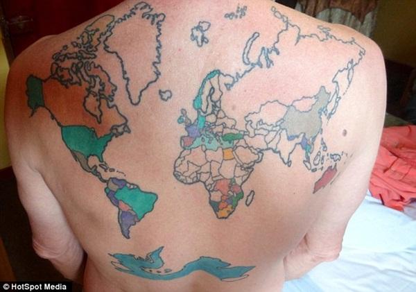 Smart Map Tattoo Design And Ideas 18