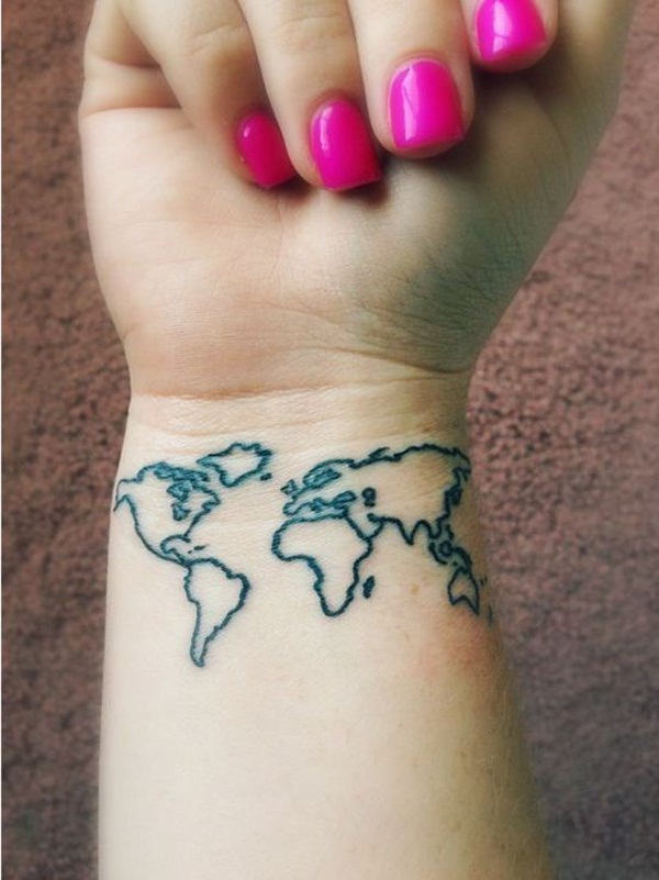 Smart Map Tattoo Design And Ideas 3