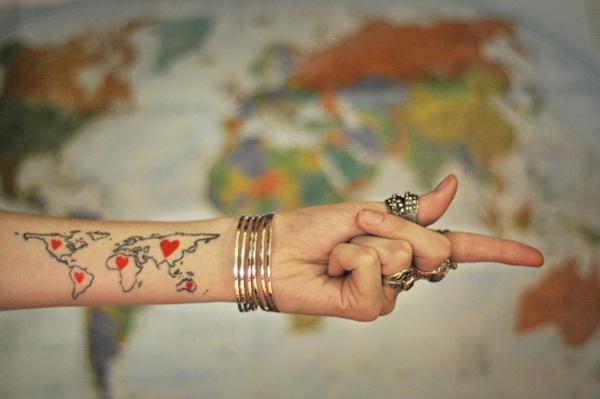 Smart Map Tattoo Design And Ideas 30