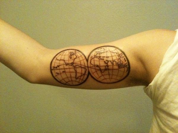 Smart Map Tattoo Design And Ideas 33