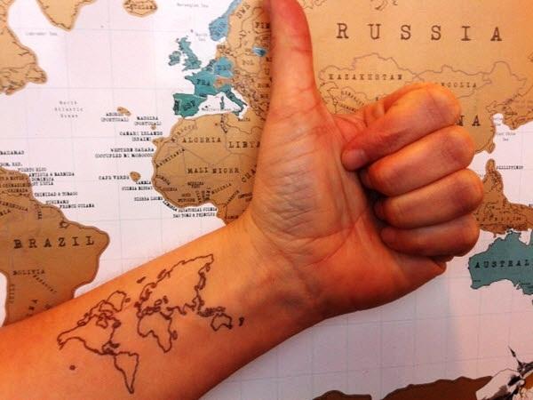 Smart Map Tattoo Design And Ideas 36