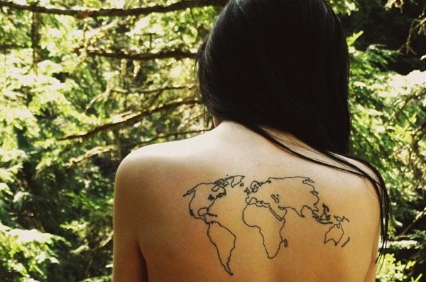 Smart Map Tattoo Design And Ideas 38