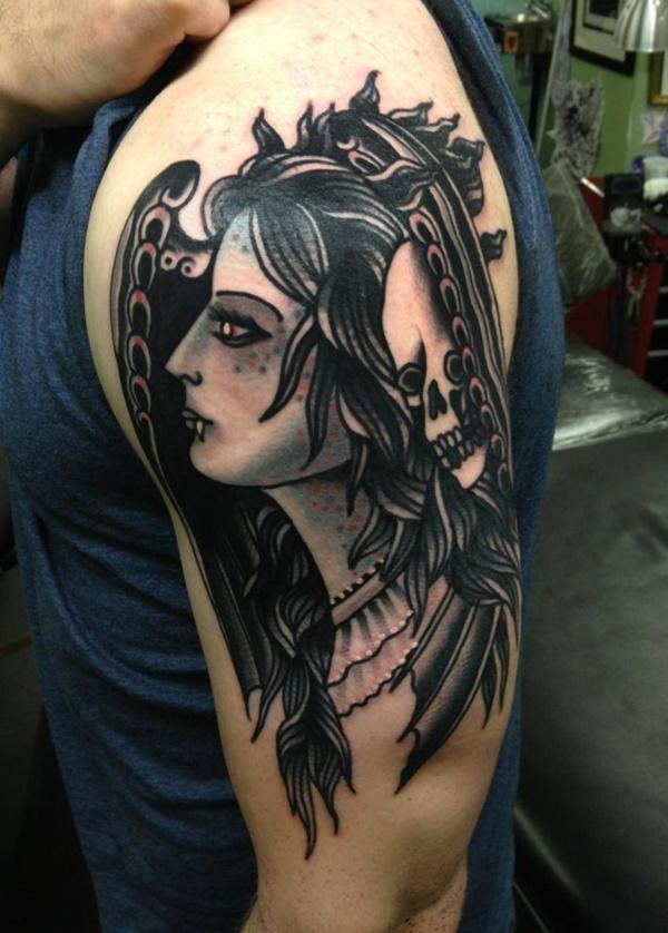 Stunning Black And Grey Tattoos 17