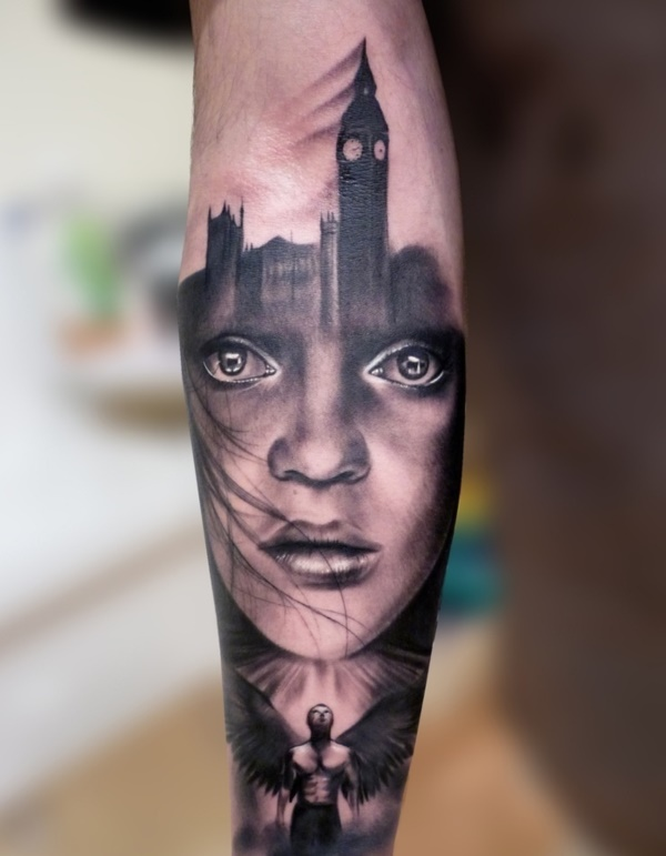 Stunning Black And Grey Tattoos
