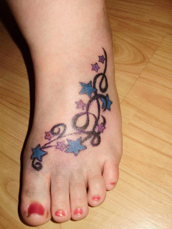 foot tattoo designs for girls 10