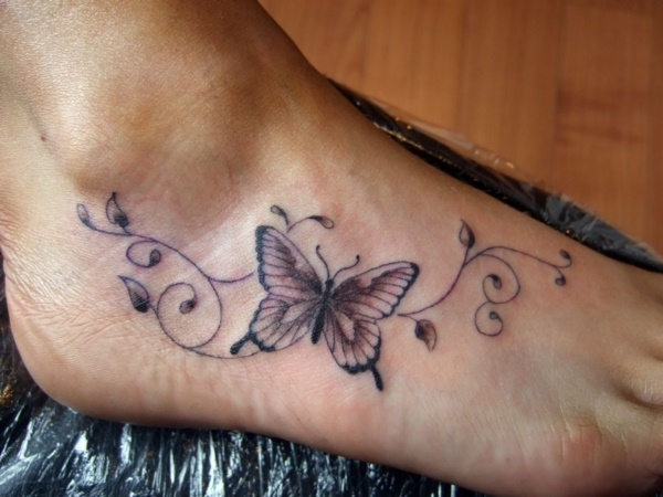 foot tattoo designs for girls 12