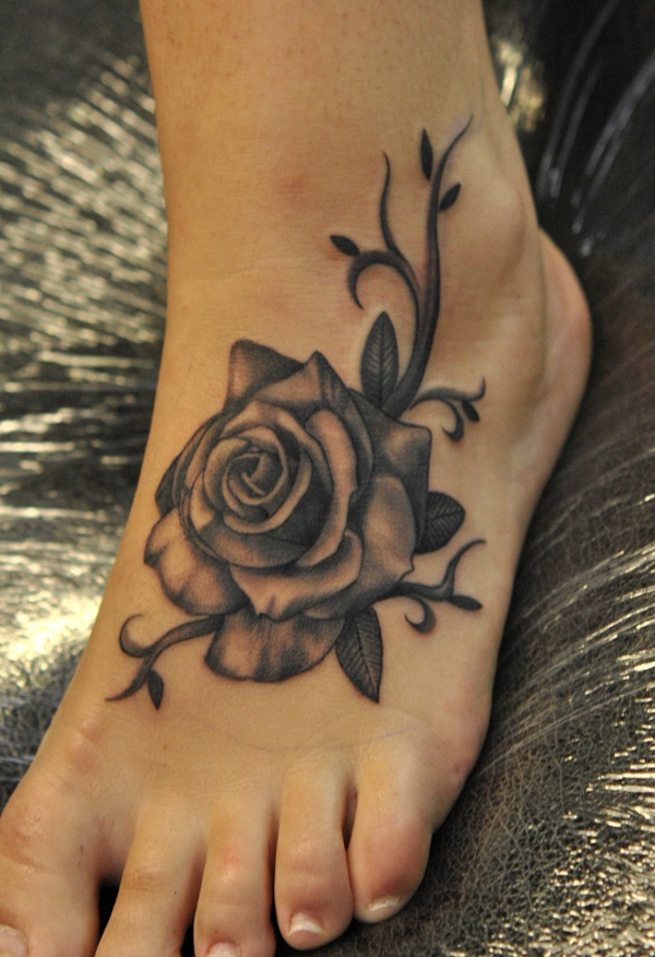 foot tattoo designs for girls 16