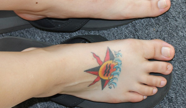 foot tattoo designs for girls 21