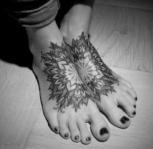 foot tattoo designs for girls 30