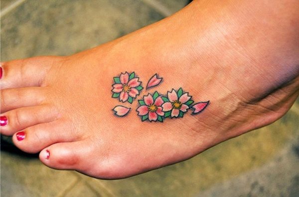 foot tattoo designs for girls 39