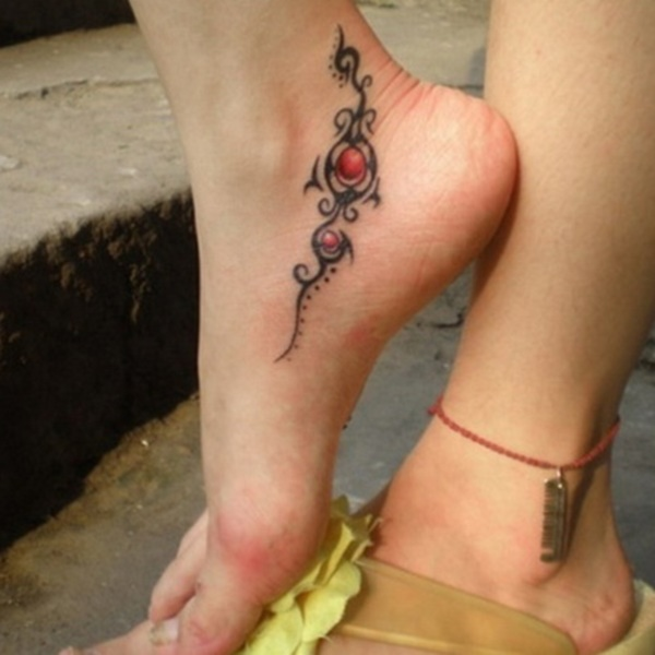 foot tattoo designs for girls 42