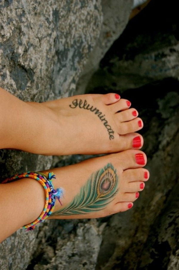 foot tattoo designs for girls 43