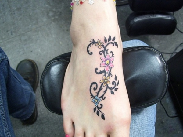 foot tattoo designs for girls 44