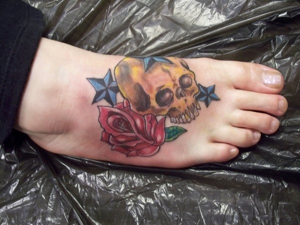 foot tattoo designs for girls 49